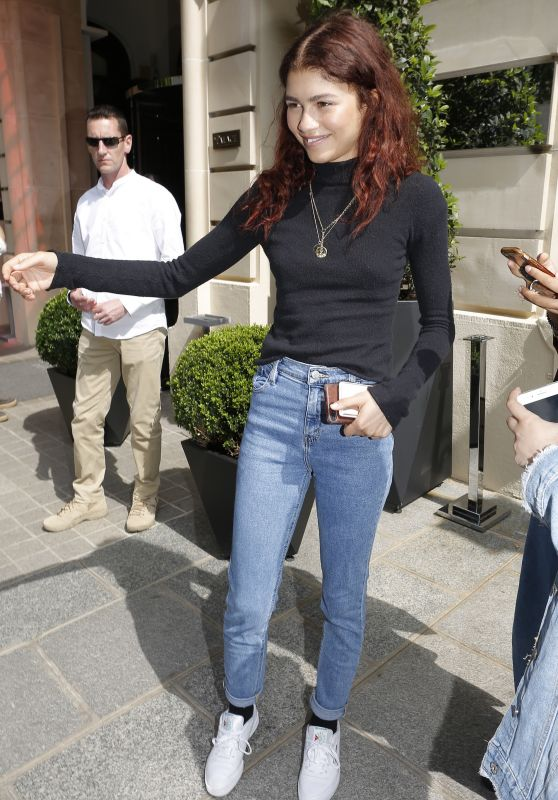 Zendaya Coleman - Arriving at a Hotel in Paris 07/01/2019