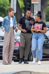Zendaya With Her Brother Austin at the Granville Restaurant in Burbank 07/25/2019
