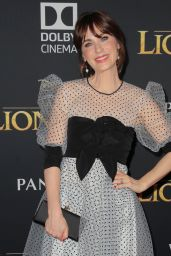 """Zooey Deschanel – """"The Lion King"""" Premiere in Hollywood"""
