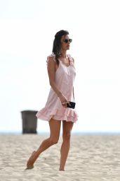 Alessandra Ambrosio - Beach in Santa Monica 08/13/2019