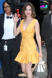 Alison Brie - GMA in NYC 08/13/2019