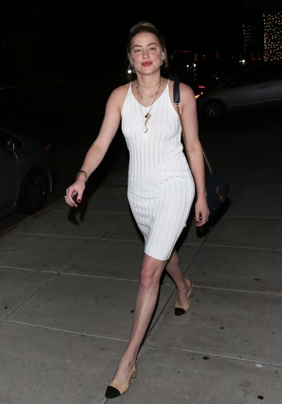 Amber Heard Night Out Style - Nobu in Beverly Hills 08/19/2019