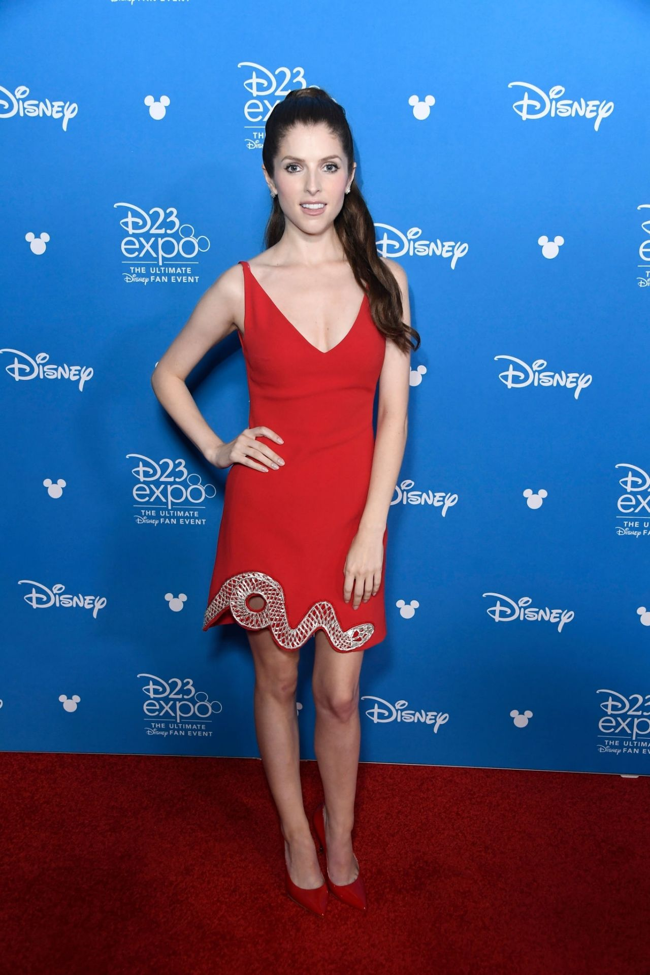 Anna Kendrick at some Disney event in California
