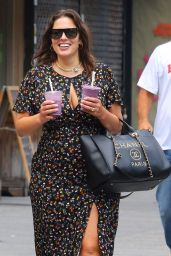 Ashley Graham With Two Drinks in NYC 07/31/2019