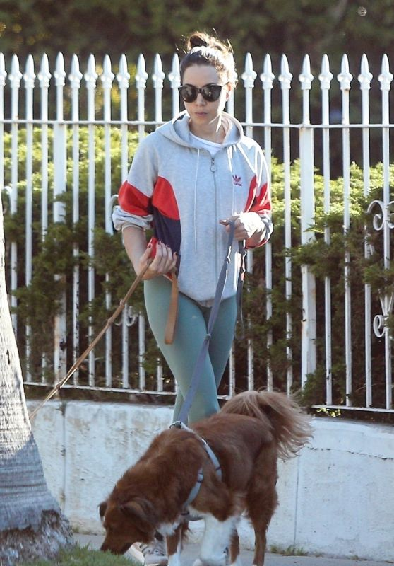 Aubrey Plaza - Out Walking Her Dogs in LA 08/22/2019