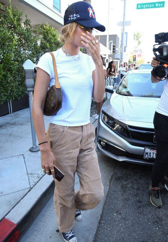 Bella Hadid - Leaving E Baldi in Beverly Hills 08/13/2019
