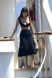 Camila Morrone on a Yacht in Porto Cervo 08/09/2019