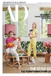 Cara Delevingne and Poppy Delevingne - Architectural Digest Magazine September 2019