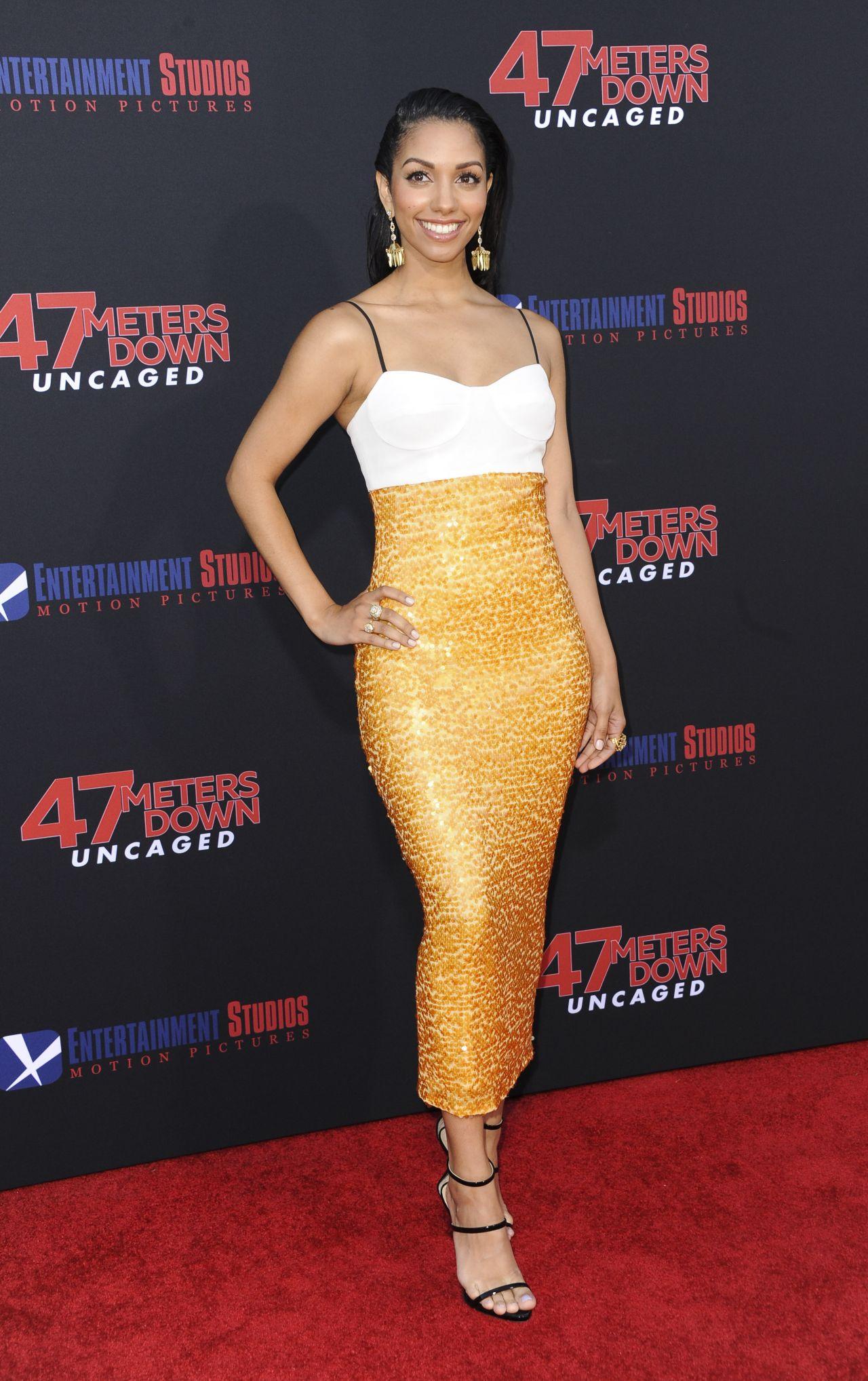 Corinne Foxx 47 Meters Down Uncaged Premiere In Los