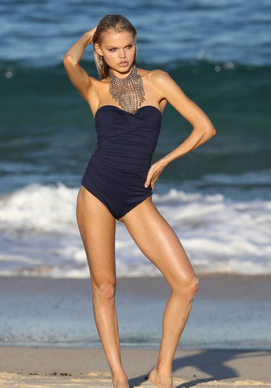 Daphne Laan - Swimwear Collection Photoshoot in Sydney 08/01/2019