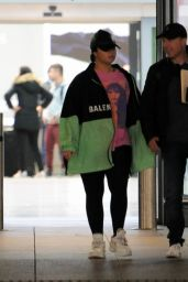 Demi Lovato in Travel Outfit - Heathrow Airport in London 08/17/2019
