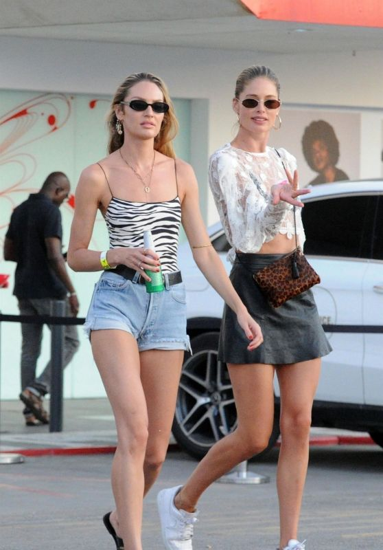 Doutzen Kroes and Candice Swanepoel - Leaving Ushuaia Hotel in Ibiza 080/14/2019