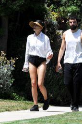 Elizabeth Olsen Shows Off Her Legs - Grocery Shopping in Sherman Oaks 08/04/2019