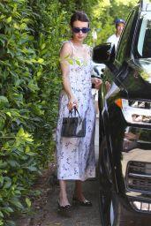 Emma Roberts in a Floral Midi Dress 08/11/2019
