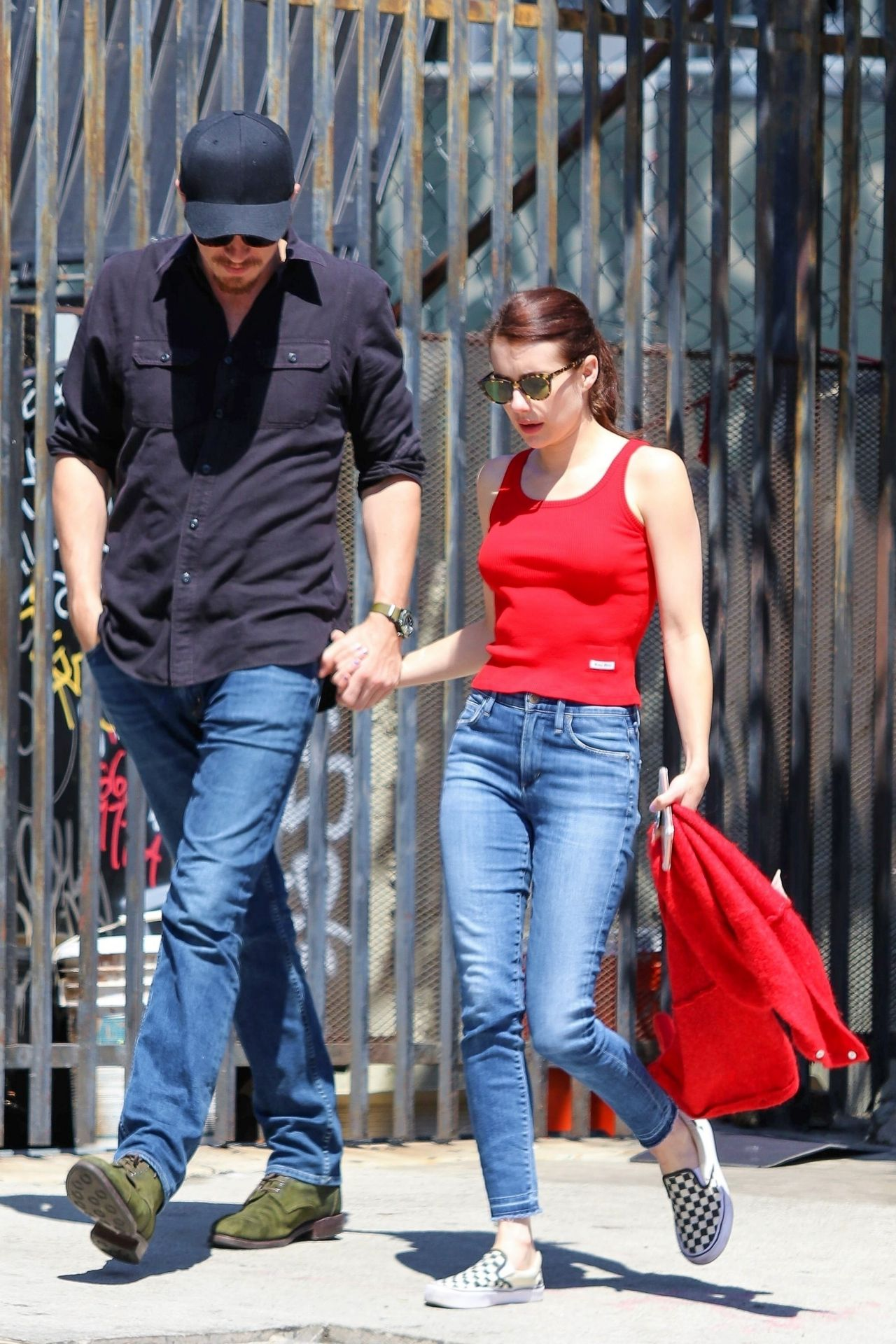 Emma Roberts - With Her Boyfriend in Hollywood 08/27/2019