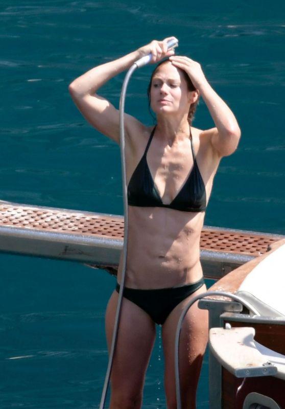 Hannah Bagshawe in a Bikini in Positano 08/23/2019