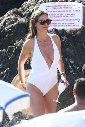 Heidi Klum in a Swimsuit in Capri 08/04/2019