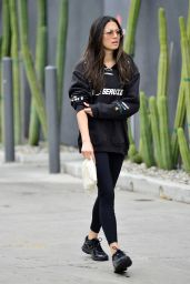 Jessica Gomes in Tights - Leaving a Gym in LA 07/31/2019