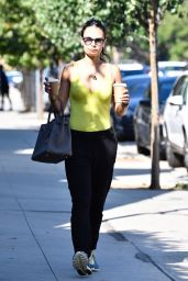 Jordana Brewster - Out for Coffee in Brentwood 08/27/2019