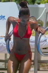 Karrueche Tran in a Red Bikini in Honolulu 08/05/2019