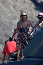 Kate Moss in a Swimsuit - On a Boat Near Portofino 08/09/2019