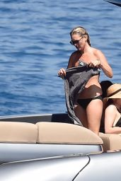 Kate Moss on a Boat With Friends in Portofino 08/11/2019