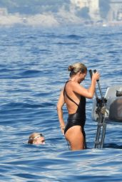 Kate Moss on the Yacht in Portofino 08/08/2019