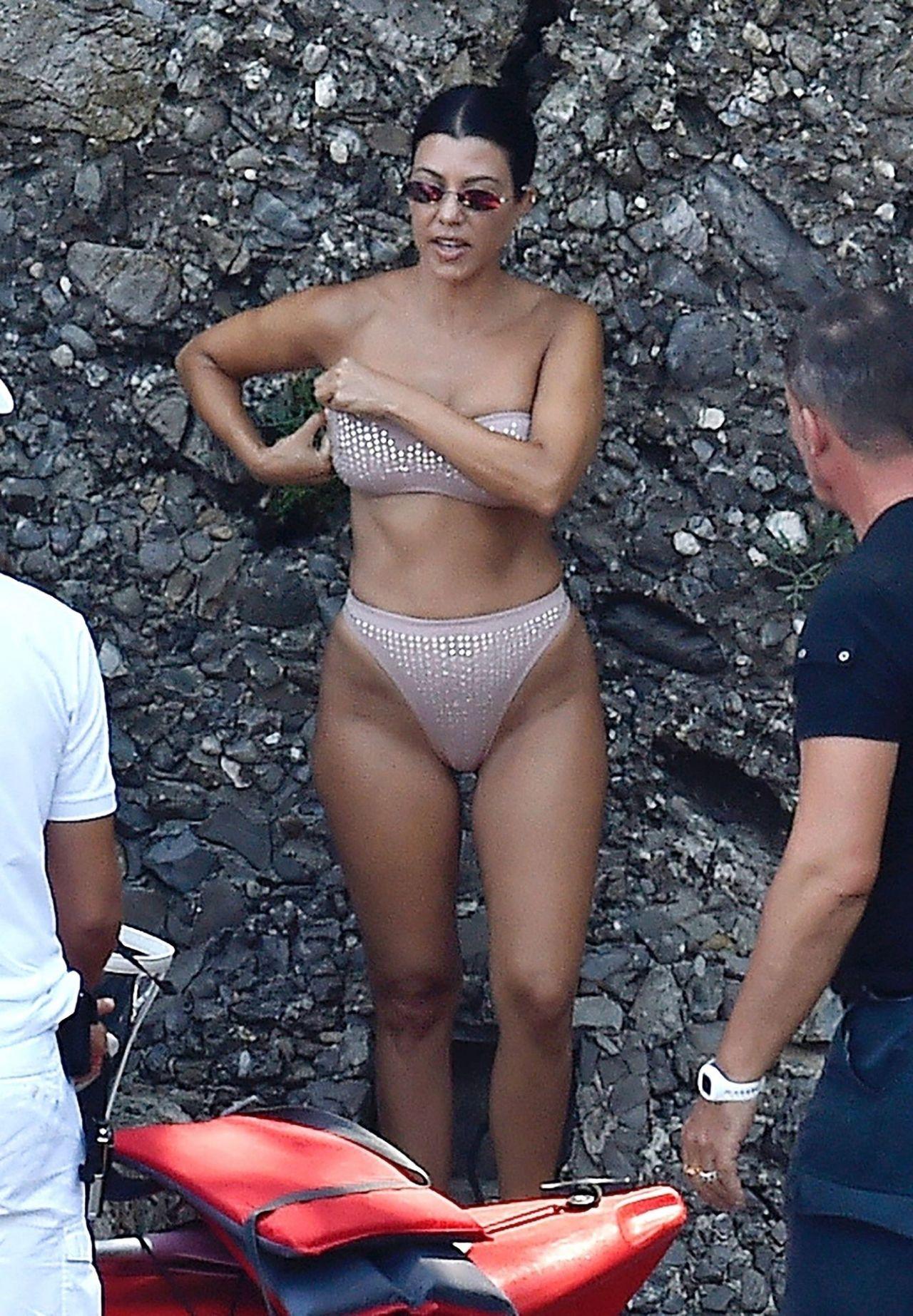 Kourtney Kardashian in a Bikini - Portofino 08/05/2019