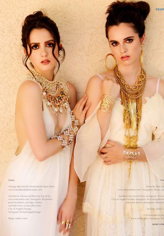 Laura Marano and Vanessa Marano - Miami Living Magazine August 2019 Issue