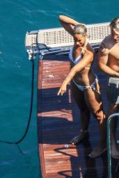 Leona Lewis in a White Bikini With Husband Dennis Jauch in Capri 08/11/2019