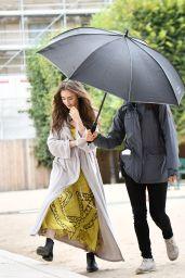 """Lily Collins - """"Emily in Paris"""" TV Series Set in Paris 08/12/2019"""