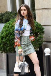 """Lily Collins - """"Emily in Paris"""" TV Series Set in Paris 08/13/2019"""