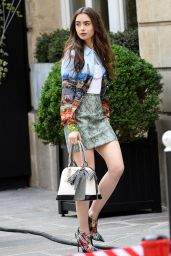 "Lily Collins - ""Emily in Paris"" TV Series Set in Paris 08/13/2019"