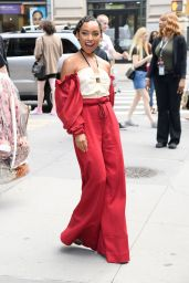 Logan Browning - Outside the BUILD Studio in New York 07/30/2019