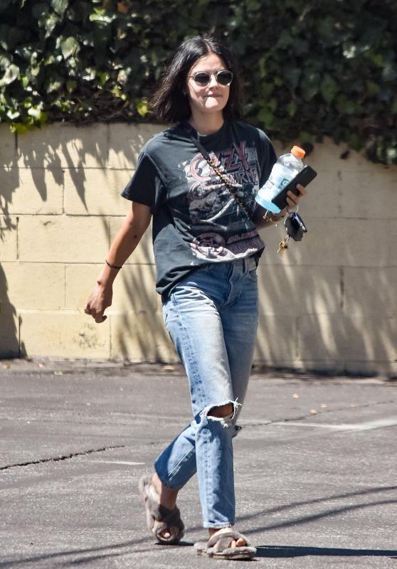Lucy Hale in Ripped Jeans - LA 08/13/2019