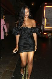 Maya Jama - Leaving Sexy Fish Restaurant in London 08/14/2019