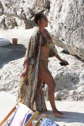 Melanie Brown in a Bikini in Capri 08/04/2019