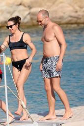 Melanie Chisholm in a Bikini in Mykonos 08/24/2019