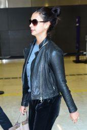 Morena Baccarin in Travel Outfit - Guarulhos International Aiport in Sao Paulo 08/22/2019