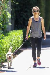 Natalie Portman With Her Dog Out in LA 08/02/2019