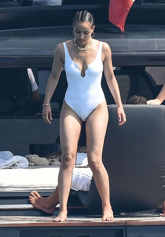 Nathalie Emmanuel in a Swimsuit - Vacation in Italy 08/12/2019