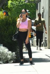 Nikki Bella in Workout Gear -  Los Angeles 08/16/19