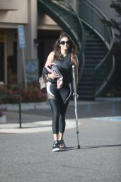 Nina Dobrev - Leaving Pilates Class in West Hollywood 08/14/2019