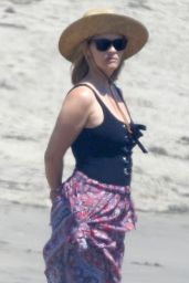 Reese Witherspoon in a Swimsuit at the Beach in Malibu 08/25/2019