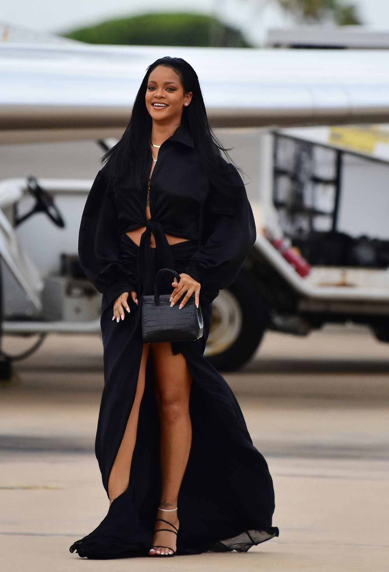 Rihanna Arrives In Barbados For The Crop Over Festival