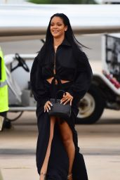 Rihanna - Arrives in Barbados for the Crop Over Festival 08/04/2019