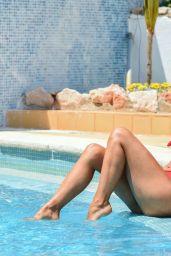 Roxanne Pallett in a Bikini at a New York Hotel, August 2019