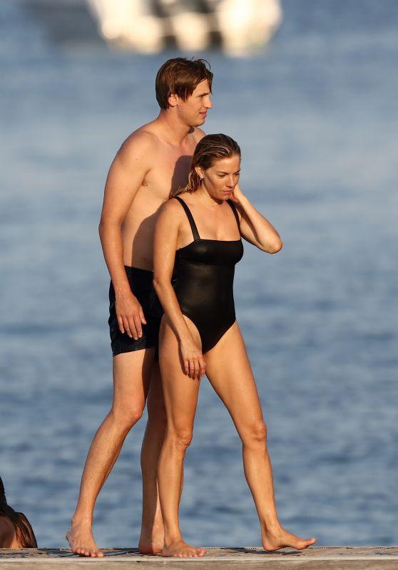 Sienna Miller and Her Boyfriend Lucas Zwimer - Saint-Tropez 08/07/2019