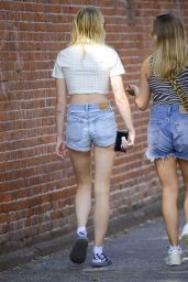 Sophie Turner Shows Off Her Legs in Jeans Shorts 08/20/2019