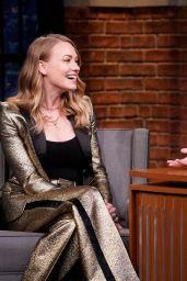 Yvonne Strahovski - Late Night with Seth Meyers 08/13/2019